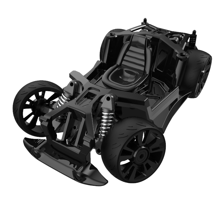 Chassis and Wheels - S2 - Black