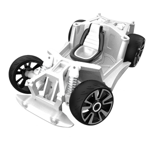 Chassis and Wheels - S2 - Silver / Black