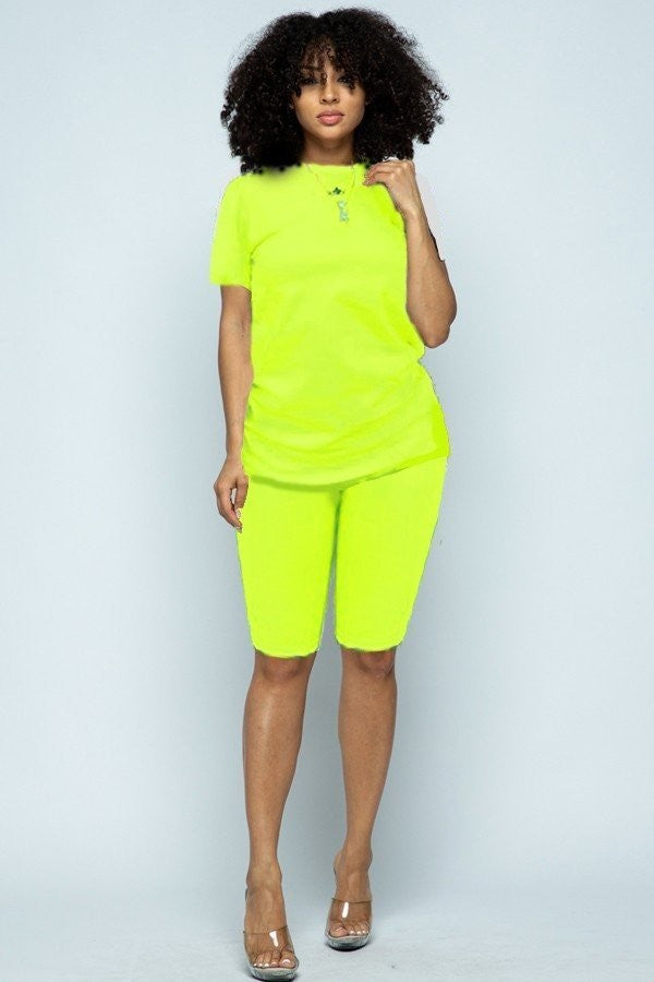 Sassy 2 piece Lime Green Set