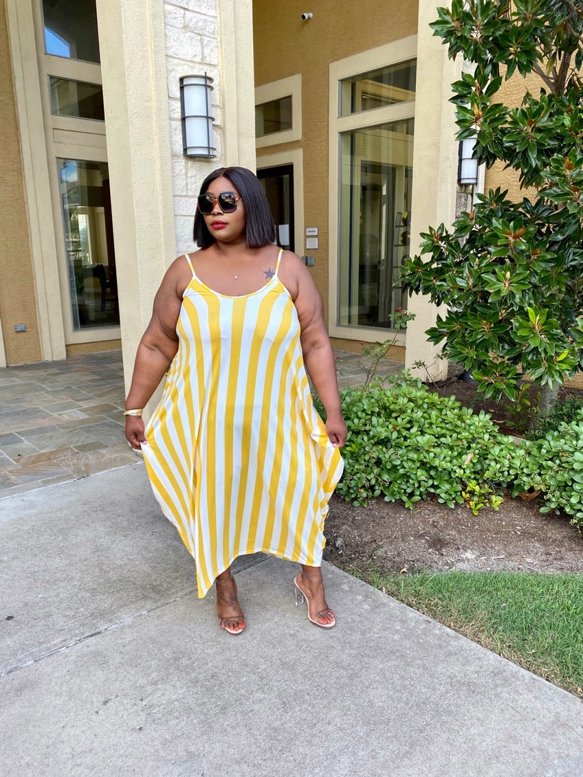 Yellow Becca Over Sized Maxi Dress