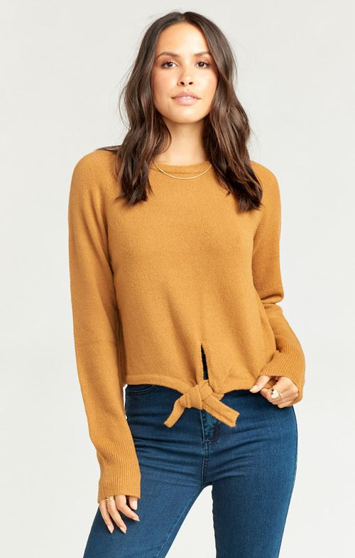 SHELBY SWEATER - CAMEL COZY KNIT