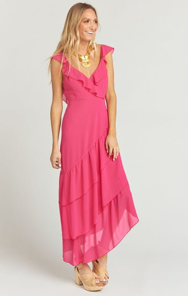 SAMBA MAXI DRESS - MAGENTA CHIFFON