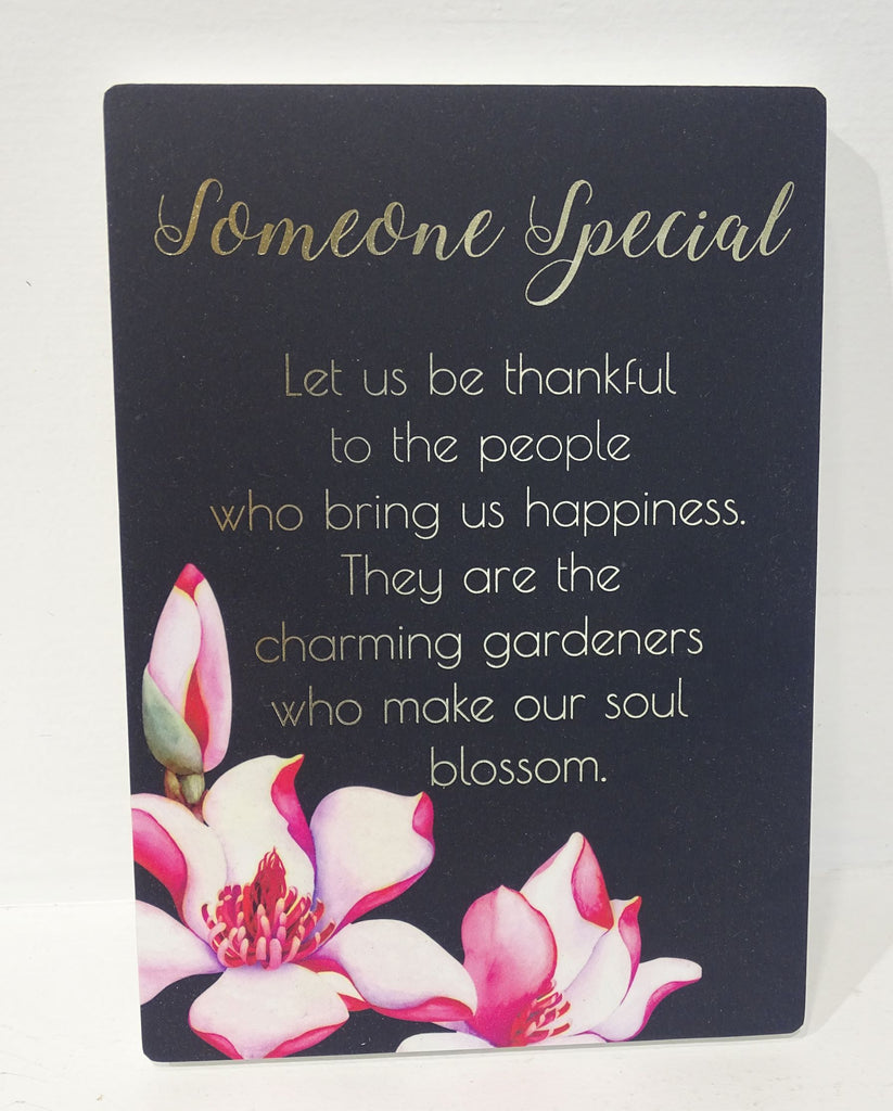 """Someone Special"" Plaque with lovely wording"