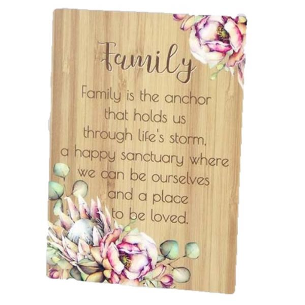 Bunch of Joy Sentiment Plaque - Mum, Aunty, Family, Friends, Someone Special