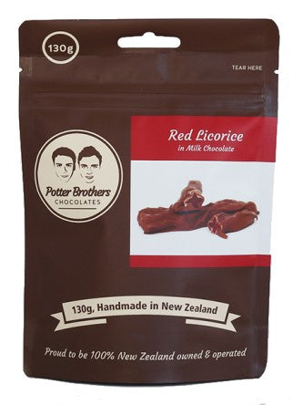 Red Licorice in Milk Chocolate 130g