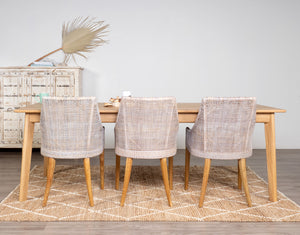 Amity Oak Clear Dining Table