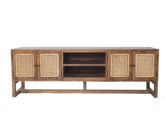 Beechmont Rattan 4 Door   Tv Cabinet Mead