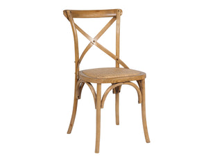 Bistrot Cross Back Dining Chair Teak