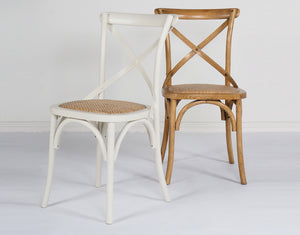 Bistrot Cross Back Dining Chair White