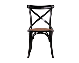 Bistrot Cross Back Dining Chair Matt Black