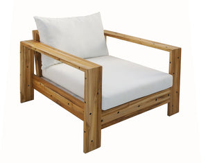 Broadbeach Teak Single Lounger