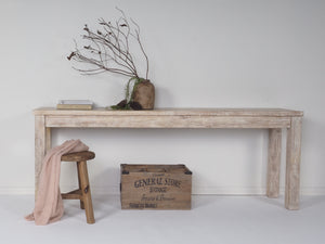 Daintree Sofa Table  Old White Wash