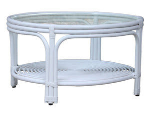 Hamilton White Round Coffee Table