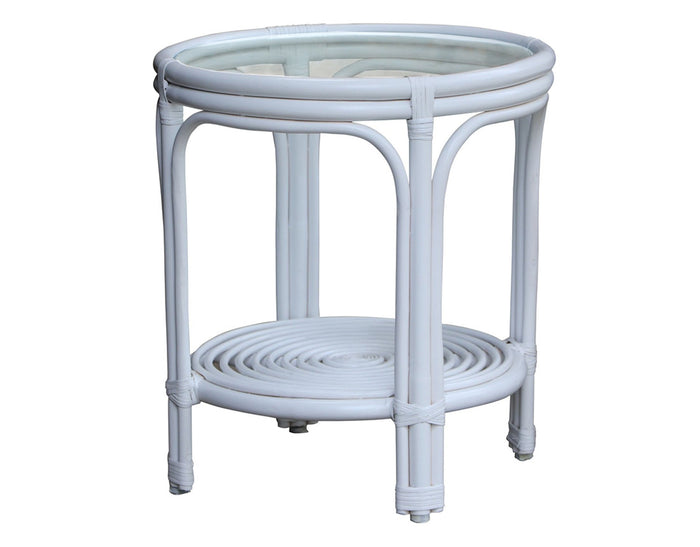 Hamilton White Round Side Table