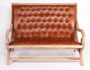 Leather 2 Seater Lazy Chair