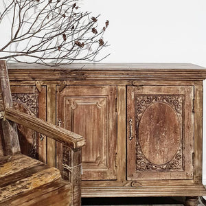 Recycled Carved Sideboard