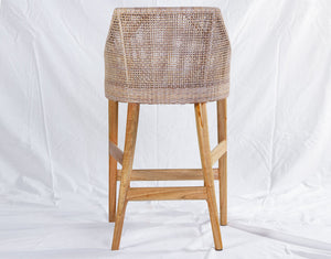 Sarabah White Grey Counter Stool