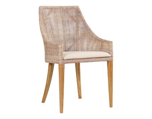 Sarabah White Grey  Dining Chair