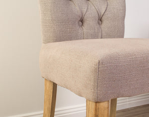 Sorrento Fabric Dining Chair - Oak Leg