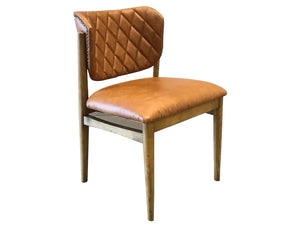 Tweed Leather Dining Chair