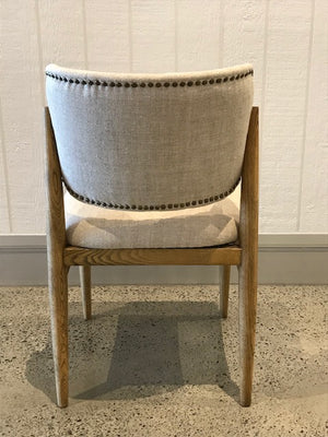 Tweed Fabric Dining Chair