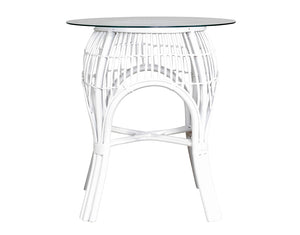 Bistro Round Valley Patio Table White