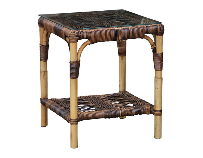 Willow Glass Top Side Table