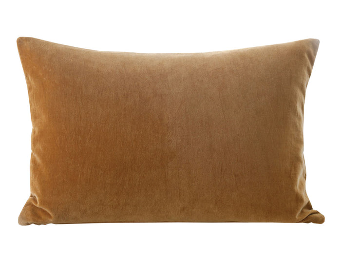 Encore Plush Cushion - Ochre Rectangle