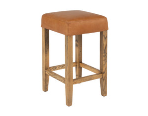 Kirra Backless Stool - Tan Leather