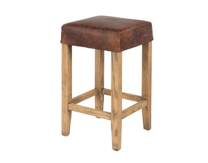 Kirra Backless Stool - Vintage Leather
