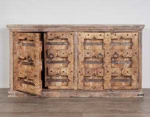 Old Carved Door Buffet