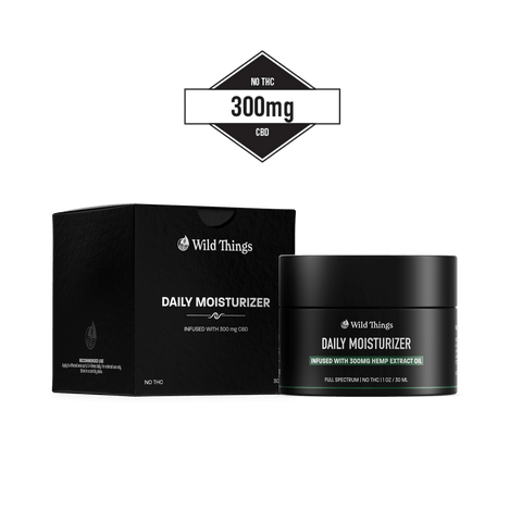 CBD Daily Moisturizer (300mg CBD) CBD Skincare Wild Things Botanicals