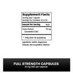 CBD Capsules: Full Strength (18mg CBD) CBD Capsules Wild Things Botanicals