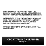 CBD Vitamin C Cleanser (100mg CBD) CBD Skincare Wild Things Botanicals