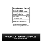 CBD Capsules: Original Strength (8mg CBD) CBD Capsules Wild Things Botanicals