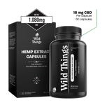 CBD Capsules: Full Strength (18mg CBD) CBD Capsules Wild Things Botanicals 60 capsules - $119.99