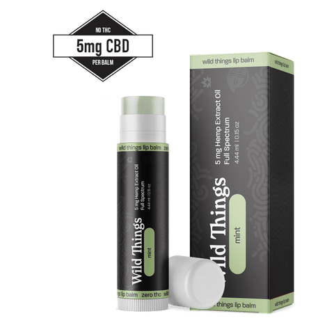 CBD Lip Balm (5mg CBD) CBD Skincare Wild Things Botanicals 1 Mint Lip Balm $14.99
