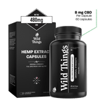 CBD Capsules: Original Strength (8mg CBD) CBD Capsules Wild Things Botanicals 60 capsules - $59.99