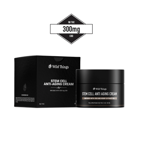 CBD Stem Cell Anti-Aging Cream (300mg CBD) CBD Skincare Wild Things Botanicals