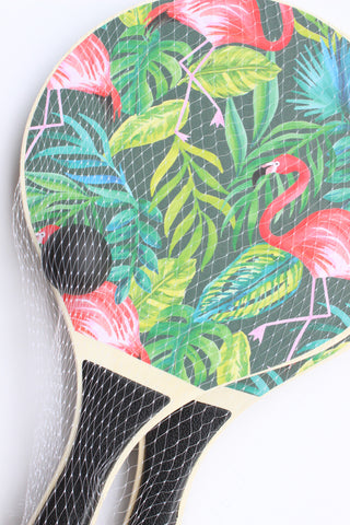 flamingo paddle ball set