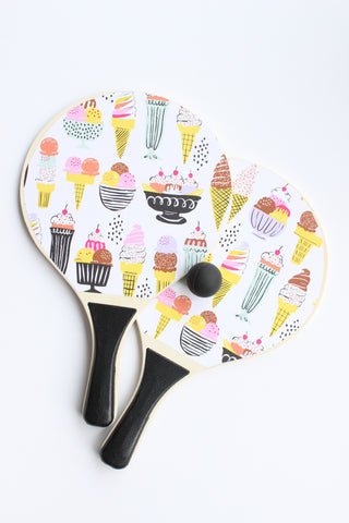 ice cream paddle ball set