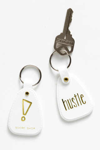 hustle key chain