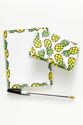 pineapple notepad & notecards