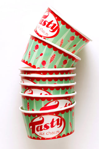 vintage ice cream cups - new stock