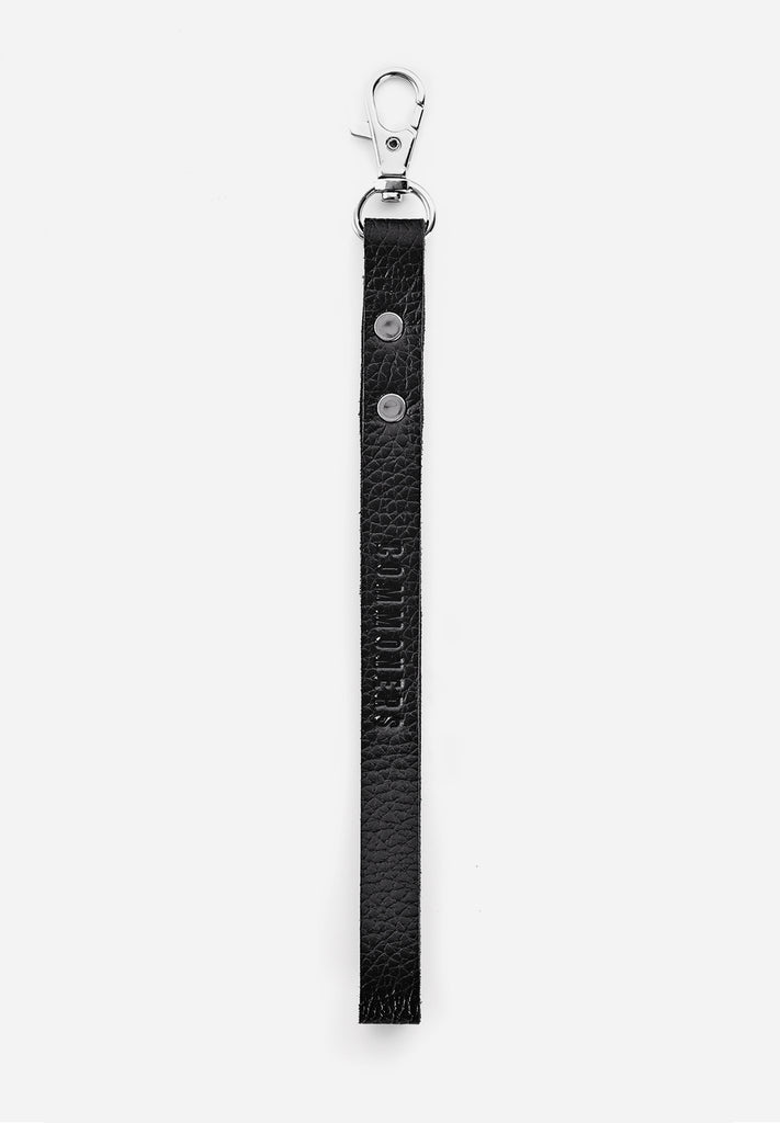 LEATHER KEYCHAIN, Black