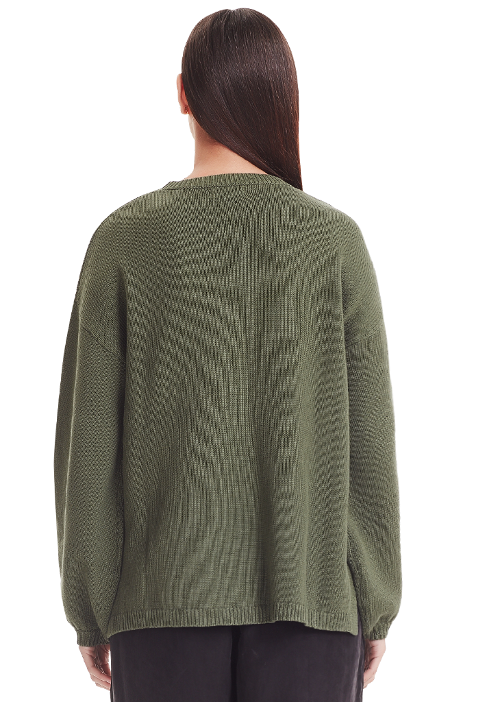 PUFF SLEEVE KNIT, GREEN