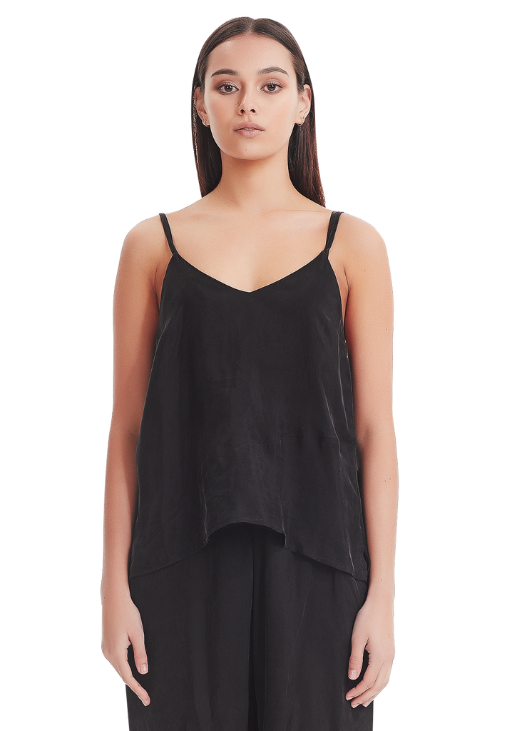WOMEN'S PANEL CAMI, BLACK