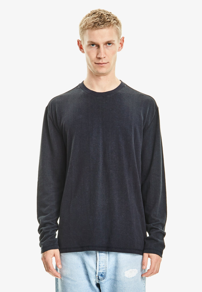 MEN'S HEMP JERSEY LS, NAVY