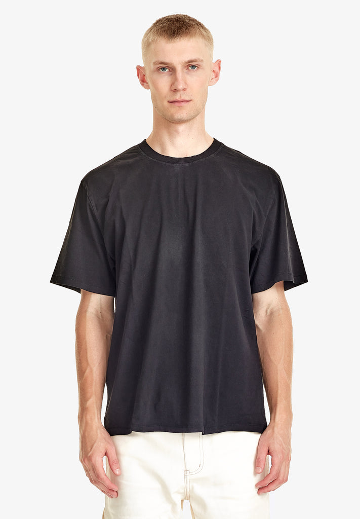 MEN'S RELAXED TEE - 100% ORGANIC COTTON, BLACK