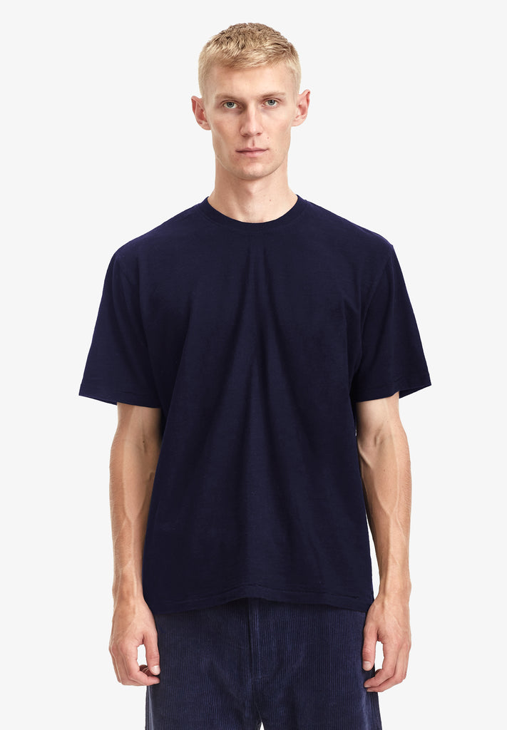 MEN'S RELAXED TEE - 100% ORGANIC COTTON, NAVY